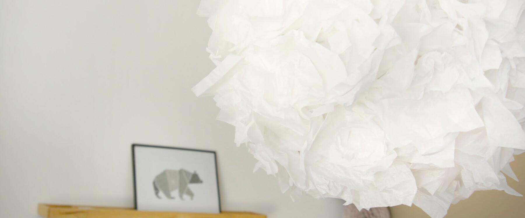 Wie man aus Seidenpapier eine Lampe bastelt | titantina